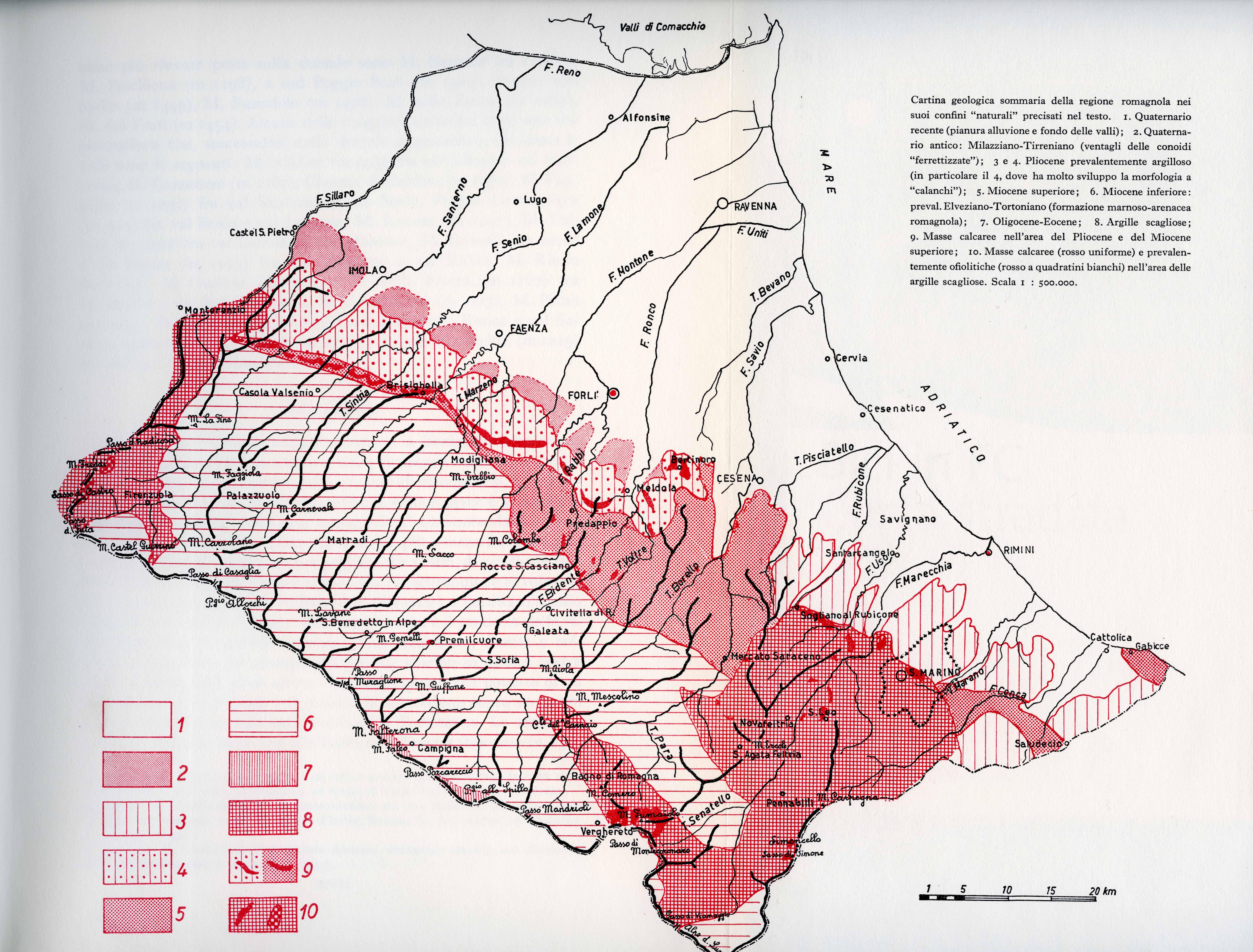 Carta Geologica Romagna